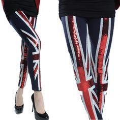 Union Jack Sequin Tight Leggings