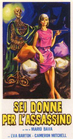 Sei donne per l'assassino (Blood and Black Lace), 1964 - Italian poster
