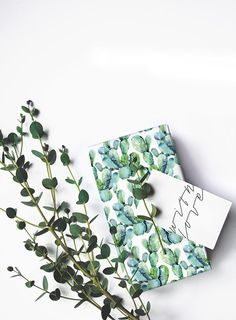 Cactus gift wrap by Think Noir