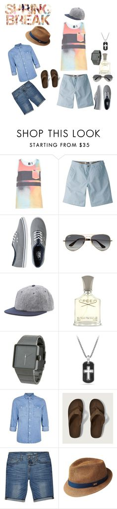 """""""spring break ready"""" by slayedbyk on Polyvore featuring Mountain Khakis, Vans, Ray-Ban, Gents, Creed, Nixon, David Yurman, Topman, Abercrombie & Fitch and River Island"""