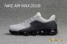 Nike 2018 KPU +5 Nike Air Vapor MAX 2018 +5 KPU Men Grey Black 40-47 Nike Air Max Mens, Nike Air Vapormax, New Nike Air, Cheap Nike Air Max, Nike Men, Men Sneakers, Air Max Sneakers, Men Trainers, Sneakers Fashion
