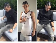 NBA's Jeremy Lin -- French Braids? ... Yep. (PHOTOS) - http://blog.clairepeetz.com/nbas-jeremy-lin-french-braids-yep-photos/