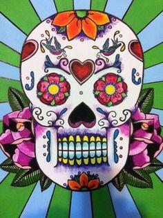 Quadro de caveira mexicana lindo!