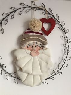 Christmas Door Decorations, Christmas Ornament Crafts, Christmas Wreaths, Country Christmas, Christmas Time, Garland Hanger, Felt Flower Tutorial, Christmas Stockings, Ideas