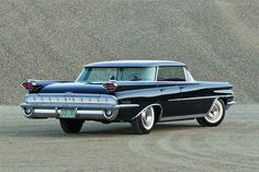 1959 Oldsmobile in black and chrome! 50s Cars, Retro Cars, Vintage Cars, Antique Cars, Automobile, American Classic Cars, Expensive Cars, Buick, Custom Cars