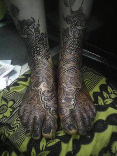 bridal  design for leg