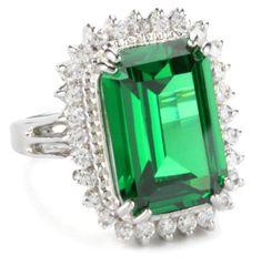"CZ by Kenneth Jay Lane ""Elegant Cubic Zirconia"" Rhodium-Plated Emerald-Color Pave Ring, Size 7 CZ by Kenneth Jay Lane,http://www.amazon.com/dp/B003UD7K7K/ref=cm_sw_r_pi_dp_s3sptb1CKTERWRYZ"