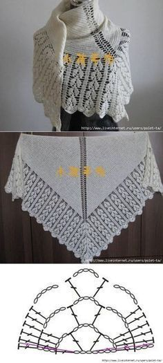 White shawl with fringe