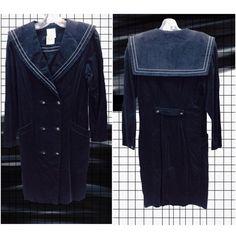 """愛♡Fashion: Rikka & Kimiko on Instagram: """"#WindowShopping #DailyFinds- Found this in Dress Sections of @valuevillage_thrift: It's a corduroy sailor coat-dress, with double-breasted buttons details. PRICE: $12.99  & Editing: @kiimikoh - #Blog #613 #Ottawa #Canada #CanadianFashion #Fashion #Style #Trends #Aesthetic #Monochrome #DarkTones #ThriftFinds #ValueVillage #Thrifting #OffTheRack #Dress #CoatDress #Autumn #FallStyle #FallWinter2015 #PicoftheDay #Grid #Chic #Kawaii #JapaneseFashion…"""
