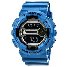 Casio GD110-2 Men's G-Shock Sport 60 Lap Digital Dial Blue Resin Dive Watch