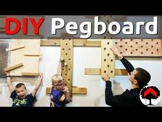 How to build an adjustable climbing peg board and cliffhanger or campus board - French cleat - DIY - YouTube