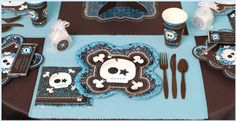 Boy out of the box babyshower tableware