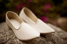 Indian Groom's White Shoes  For Indian wedding inspiration see www.weddingsonline.in