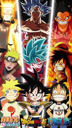 naruto,goku & luffy em 2021 | Personagens de anime, Anime, Animes wallpapers