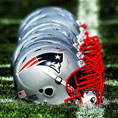 New England Patriots football helmets Nfl New England Patriots, New England Patriots Football, Patriots Fans, Nfl Football Teams, Football Is Life, Football Helmets, Football Season, Go Pats, Boston Sports
