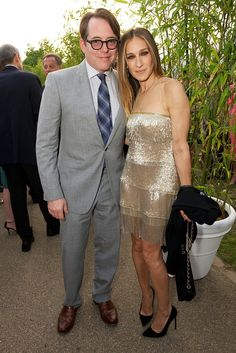 Matthew Broderick and Sarah Jessica Parker at the Annual Serpentine Summer Party [Photo by James Mason]