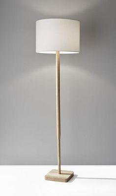 Adesso Ellis watt Floor Lamp Portable Light in Natural Wood Grain Farmhouse Floor Lamps, Wooden Floor Lamps, Farmhouse Flooring, Cool Floor Lamps, Living Room Flooring, Bedroom Flooring, My Living Room, Living Room Lamps, Vinyl Flooring