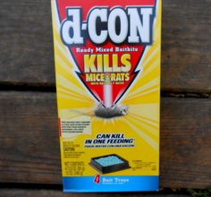 D-Con Ready Mixed Baitbits For Mice/Rats Brodifacoum 3.0 oz  1 Box 4 Bait Trays #dCon