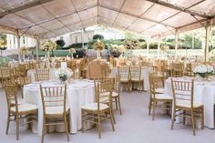 Wedding reception dinner tent at Arlington Hall lower garden