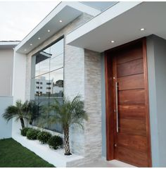 most popular new exterior house design ideas 8 Bungalow House Design, House Front Design, Small House Design, Modern House Design, Modern Houses, Main Door Design, Wall Design, Design Case, Home Room Design