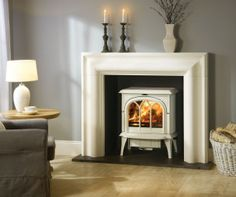fireplace stove white - Google Search