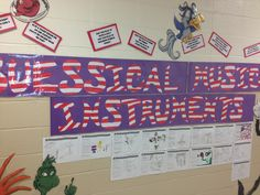 In honor of Dr. Seuss' birthday, the students in my music classes designed Suessical Musical Instruments