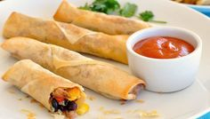 Baked Mexican Spring Rolls (Egg Rolls)