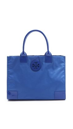 Tory Burch Nylon Ella Tote  Wish the strap was longer but the green is so nice!