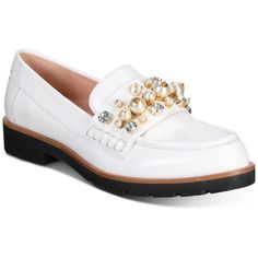 kate spade new york Karry Too Embellished Oxfords ($298) ❤ liked on Polyvore featuring shoes, oxfords, off white, oxford shoes, sparkly flats, kate spade shoes, rhinestone flats and loafer shoes
