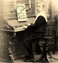 Prokofiev at the age of seven ...... Sergei Sergeyevich Prokofiev, born April 23, 1891, died March 5, 1953, was a Russian composer, pianist and conductor.