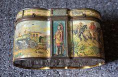"""RARE Huntley & Palmer tin """"World"""" 1891"""