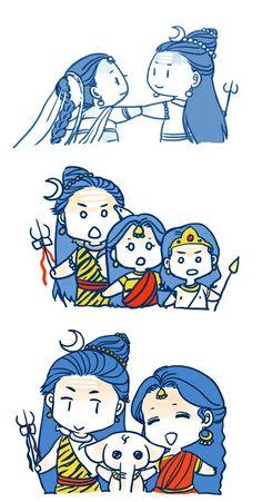 Cute lord  shiva family