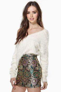 Gilded Garden Jacquard Skirt