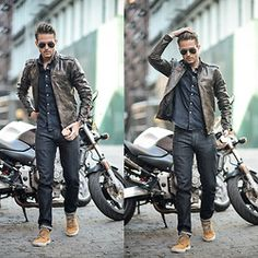 Kosta Williams - American Apparel Bomber Jaket, Lvrs & Frnds Viskose Double Shirt, Lvrsnfrnds Jogger, Raf Simons Velcro - Cozy days | LOOKBOOK