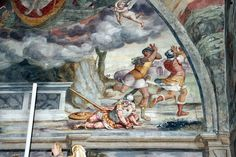 Giovan Battista Guarinoni - Resurrezione (dettaglio) - affresco - 1577 circa - Cappella centrale - Chiesa San Michele al Pozzo bianco - Bergamo (Italia)