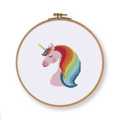 Lovely Unicorn cross stitch pattern, funny nursery fairy animal counted cross stitch design, instant download easy diy baby room decor by Ritacuna on Etsy https://www.etsy.com/uk/listing/570250777/lovely-unicorn-cross-stitch-pattern