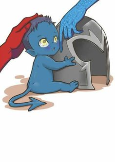 1000+ images about Azazel, Mystique and their son ... X Babies Nightcrawler