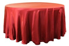 """12.49 Satin+120""""+Round+Tablecloth+-+Apple+Red"""