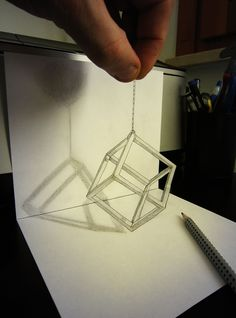 A trained artist can already create detailed pencil drawings, but when they achieve a true mastery of perspective and space, their art, both literally and figuratively, reaches a whole new level. Here are 22 examples of pencil drawings… Continue Reading → Unique Drawings, Amazing Drawings, Cool Drawings, Amazing Art, 3d Pencil Art, 3d Pencil Drawings, Pencil Sketching, 3d Street Art, 3d Painting