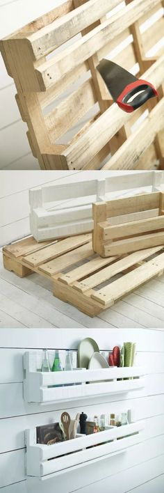 Create Simple Pallet Wood Projects To Enhance Your Home's Interior Decor Pallet Crafts, Pallet Projects, Pallet Ideas, Home Projects, Wood Crafts, Diy Pallet, Pallet Room, Small Pallet, Pallet Couch