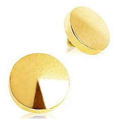 Gold Plated 316L Surgical Steel Disc Dermal Top - 4mm - Sold Individually WickedBodyJewelz - Dermal. $5.95