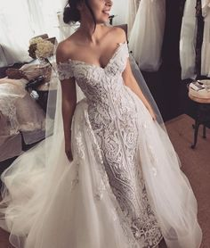 9a8530bd3f 57 Stunning Wedding Dresses With Detachable Skirts - #Detachable #Dresses  #skirts #Stunning