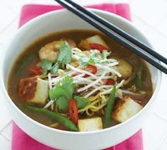 Prawn and Tofu Laksa w/out coconut milk so healthy option