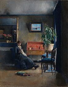 Harriet Backer - Wikipedia National Gallery, Famous Artwork, Art Academy, Carl Larsson, Learn To Paint, Claude Monet, Community Art, Oil Painting On Canvas, Canvas Paintings