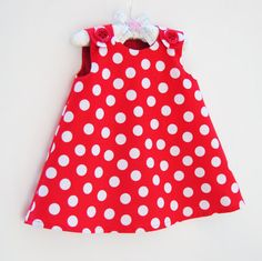 Designer Dress Patterns For Children Red Polka Dot Dress Baby