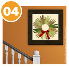 Family Handprint wreath, could make on Thanksgiving with the whole family together