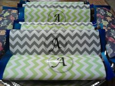 Dove candy bars wrapped in scrap book paper of theme and colors. Great for baby showers, wedding showers. Etc...#chevron #DIY #babyshowers #candybars