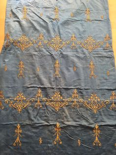 19th ANTIQUE OTTOMAN-TURKISH GOLD METALLIC HAND EMBROIDERED PANEL 163cm*95c 3