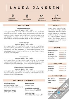 templates for a cv