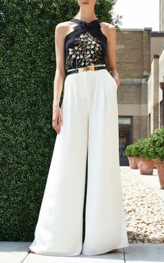 My weakness for palazzo pants is showing // Carolina Herrera